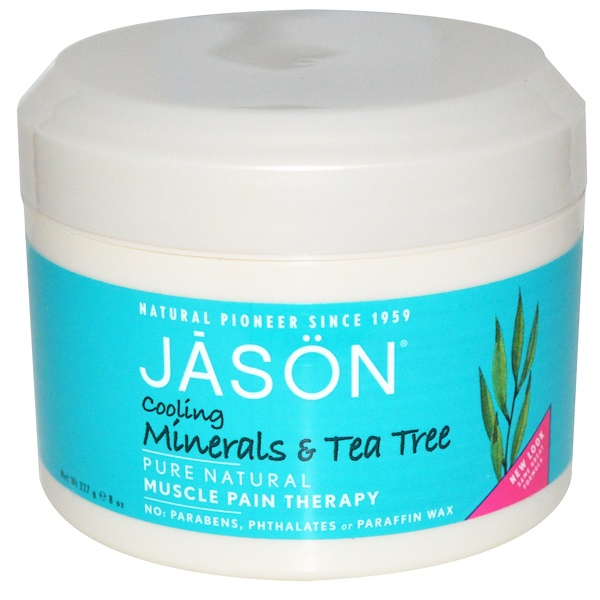 Jason Natural, Muscle Pain Therapy, Cooling Minerals & Tea Tree, 8 oz (227 g) (Discontinued Item)