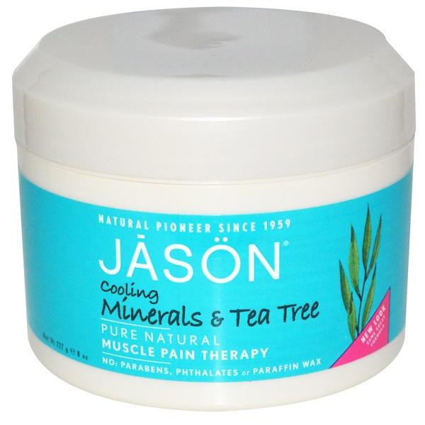 Jason Natural, Мышца Терапия боли, охлаждения Минералы и чайного дерева, 8 унций (227 г) (Discontinued Item)