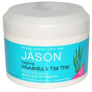 Джэйсон Нэчуралс, Muscle Pain Therapy, Cooling Minerals & Tea Tree, 8 oz (227 g) отзывы покупателей