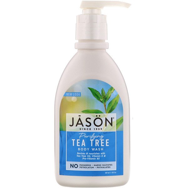 Jason Natural, Body Wash, Purifying Tea Tree, 30 fl oz (887 ml)