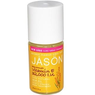 Jason Natural, Aceite para la piel con Vitamina E, extra potencia, 32,000 I.U., 1 fl oz (30 ml)