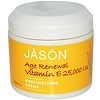 Jason Natural, Age Renewal Vitamin E、保湿クリーム 、25,000 IU、4 oz (113 g)