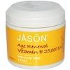 Jason Natural, 若返り効果ビタミンE、モイスチャライジングクリーム 、25,000 IU、4 oz (113 g)