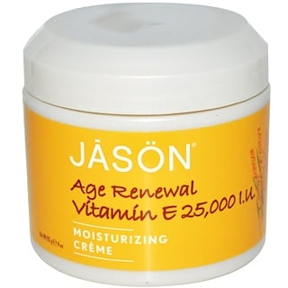 Jason Natural, Vitamina E Rejuvenecedora, Crema Humectante, 25,000 UI, 4 oz (113 g)