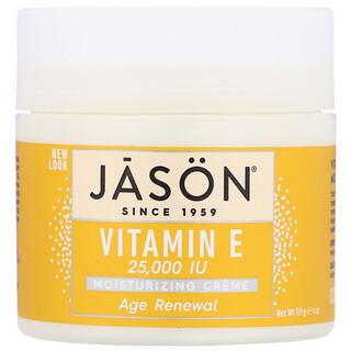 Jason Natural, كريم ترطيب وتجديد مقاوم لعلامات التقدّم بالعمر معزز بفيتامين هـ، 25,000 وحدة دولية، 4 أونصة (113 جم)