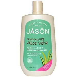 Джэйсон Нэчуралс, Moisturizing Gel, Aloe Vera, 16 oz (454 g) отзывы покупателей