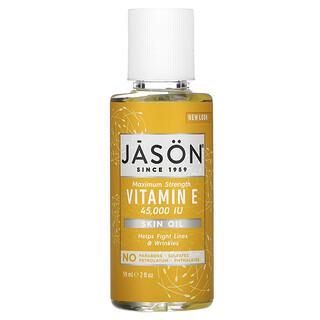 Jason Natural, Aceite para la Piel Puro y Natural, Vitamina E de Fuerza Máxima, 45,000 IU, 2 fl oz (59 ml)