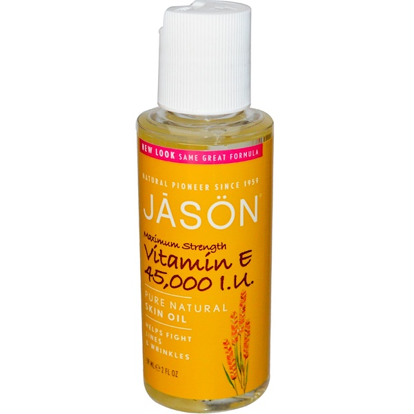 Jason Natural, Pure Natural Skin Oil, Maximum Strength Vitamin E, 45,000 IU, 2 fl oz (59 ml)