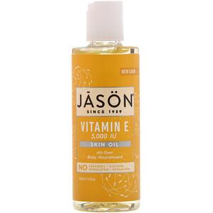 Джэйсон Нэчуралс, Vitamin E Skin Oil, 5,000 IU, 4 fl oz (118 ml) отзывы