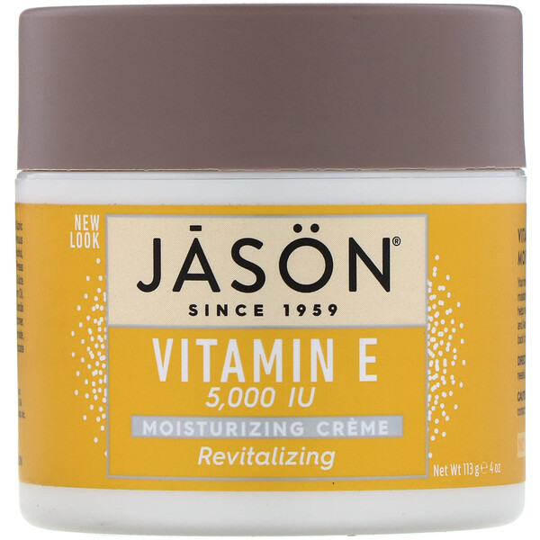 Jason Natural, Revitalizing Vitamin E Moisturizing Creme, 5,000 IU, 4 oz (113 g)
