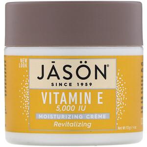 Джэйсон Нэчуралс, Revitalizing Vitamin E Moisturizing Creme, 5,000 IU, 4 oz (113 g) отзывы покупателей