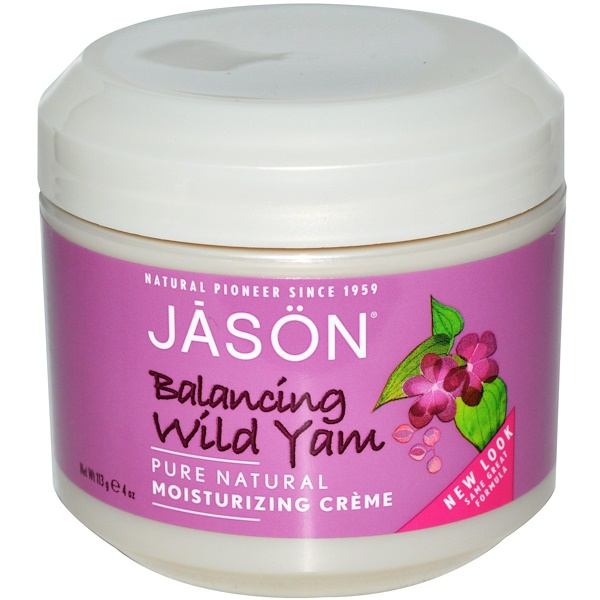 Jason Natural, Moisturizing Cream, Balancing Wild Yam, 4 oz (113 g)
