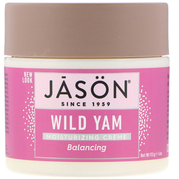 Jason Natural, Moisturizing Cream, Balancing Wild Yam, 4 oz (113 g) (Discontinued Item)