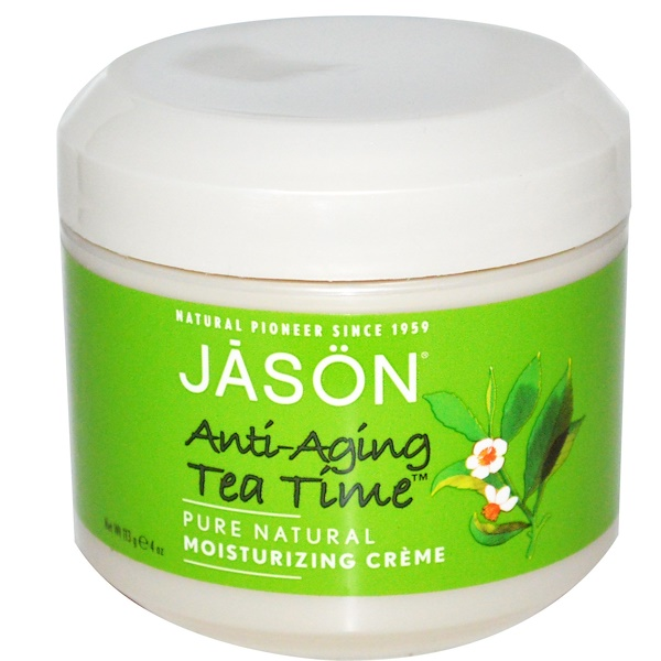 Jason Natural, Anti-Aging Tea Time, Moisturizing Creme, 4 oz (113 g) (Discontinued Item)