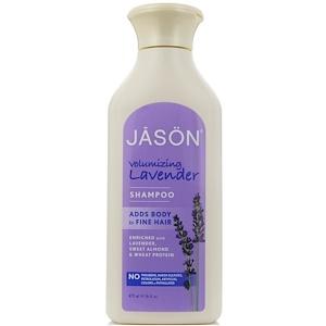 Jason Natural, Чистый натуральный шампунь, придающая объём лаванда, 16 жидких унций (473 мл)