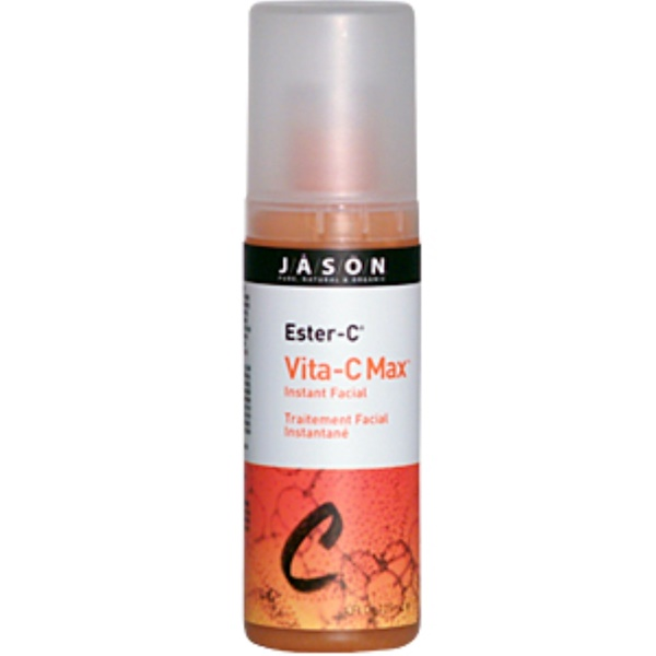 Jason Natural, Ester-C, Vita-C Max, Instant Facial, 4 fl oz (125 ml) (Discontinued Item)