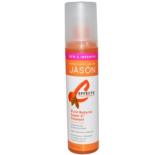 Jason Natural, C Effects, Pure Natural Super-C, Cleanser, 6 fl oz (177 ml)