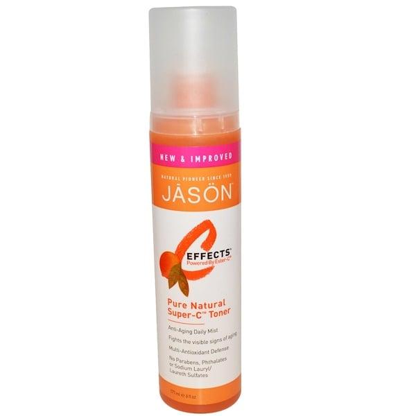 Jason Natural, C-Effects, Pure Natural Super-C Toner, 6 fl oz (177 ml) (Discontinued Item)