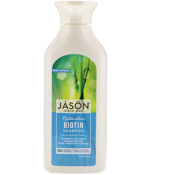 Jason Natural, Restorative Biotin Shampoo, 16 fl oz (473 ml)