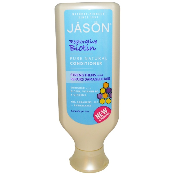 Jason Natural, Conditioner, Restorative Biotin, 16 oz (454 ml)