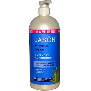 Jason Natural, Everyday Conditioner, Fragrance Free, 32 oz (907 g)