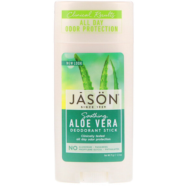 Jason Natural, Deodorant Stick, Soothing Aloe Vera, 2.5 oz (71 g)