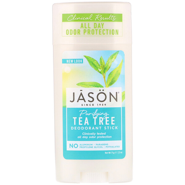 Jason Natural, Deodorant Stick, Purifying Tea Tree, 2.5 oz (71 g)