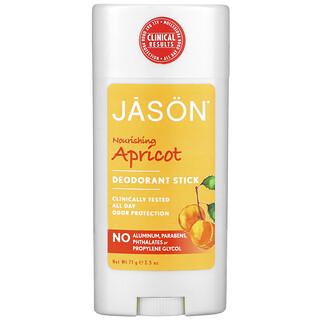 Jason Natural, Desodorante en Barra, Chabacano Nutritivo, 2.5 oz (71 g)