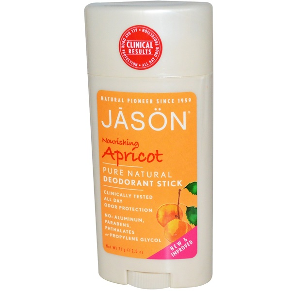 Jason Natural, Deodorant Stick, Nourishing Apricot, 2.5 oz (71 g)