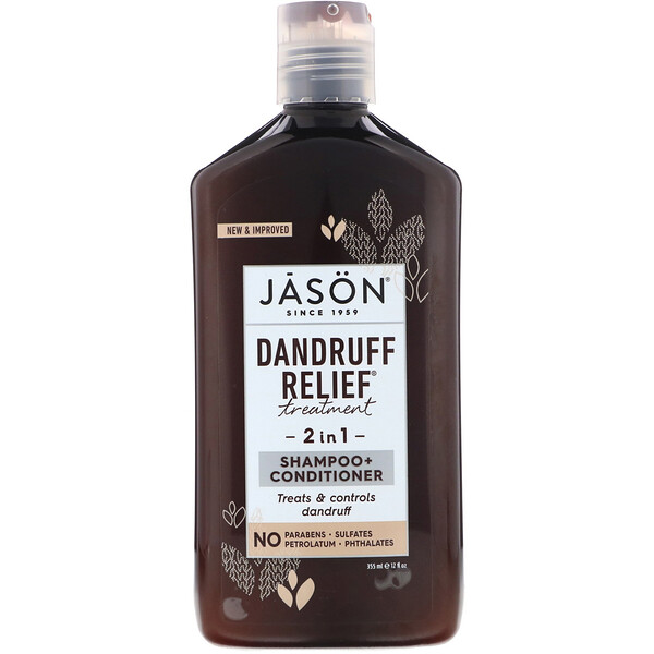 Dandruff Relief Treatment, 2 in 1, Shampoo + Conditioner, 12 fl oz (355 ml)