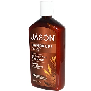 Jason Natural, Champú Anticaspa, Dandruff Relief, 12 fl oz (355 ml)