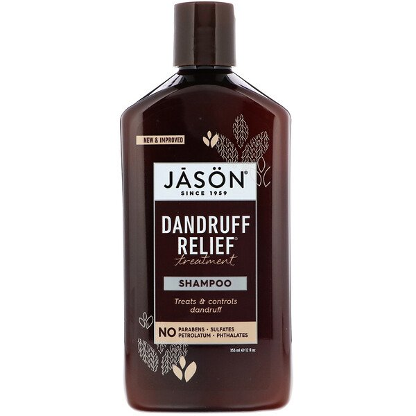 Jason Natural, Dandruff Relief Treatment Shampoo , 12 fl oz (355 ml)