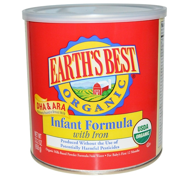 Earth's Best, Organic Infant Formula, with Iron, 23.2 oz (658 g) (Discontinued Item)