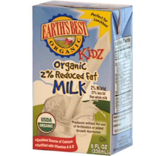 Earth's Best, Kidz, Organic 2% Reduced Fat Milk, 3 Pack, 8 fl oz (236 ml) Each (Discontinued Item)