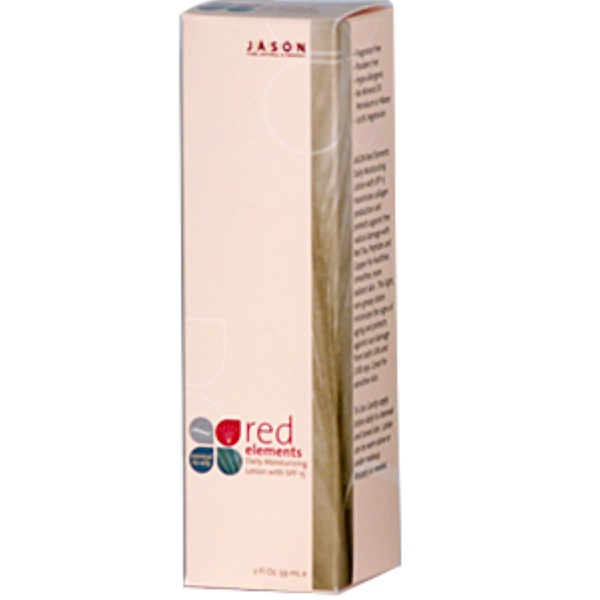 Jason Natural, Red Elements, Daily Moisturizing Lotion SPF 15, 2 fl oz (59 ml) (Discontinued Item)