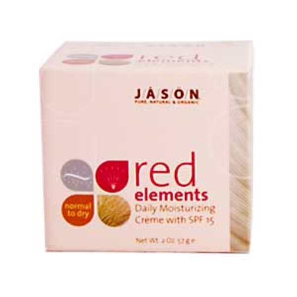 Jason Natural, Red Elements, Daily Moisturizing Creme with SPF 15, 2 oz (57 g) (Discontinued Item)