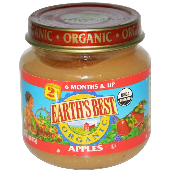 Earth's Best, Organic Baby Food, Apples, 4 oz (113 g) (Discontinued Item)