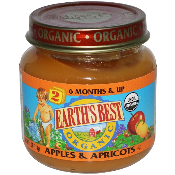 Earth's Best, Organic, Baby Food, Apples & Apricots, 4 oz (113 g) (Discontinued Item)