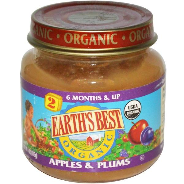 Earth's Best, Органическое детское питание, Яблоки и сливы, 4 унции (113 г) (Discontinued Item)