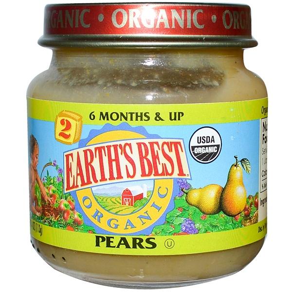 Earth's Best, Детское питание, груши, 4 унции (113 г) (Discontinued Item)