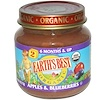 Earth's Best, Organic, Baby Food, Apples & Blueberries, 4 oz (113 g) (Discontinued Item)