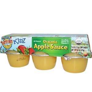 Ёртс Бест, Kidz, Organic Apple Sauce, 6 Containers, 4 oz (113 g) Each отзывы покупателей
