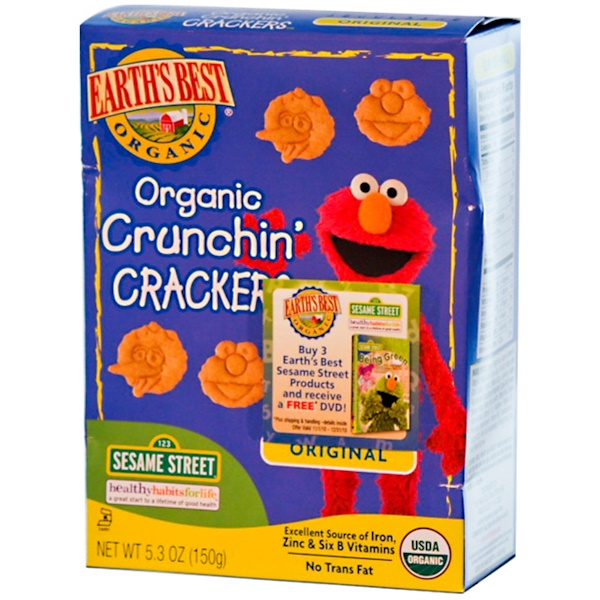 Earth's Best, Organic Crunchin' Crackers, Original, 5.3 oz (150 g) (Discontinued Item)