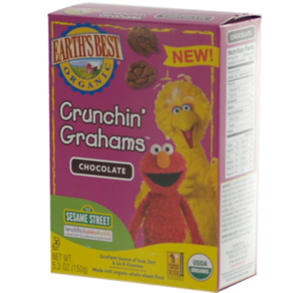 Earth's Best, Sesame Street, Crunchin' Grahams, Chocolate, 5.3 oz (150 g) (Discontinued Item)