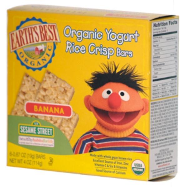 Earth's Best, Organic Yogurt Rice Crisp Bar, Banana, 6 Bars, 0.67 oz (19 g) Each (Discontinued Item)