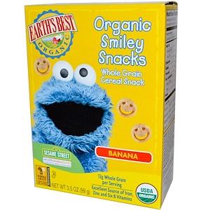 Ёртс Бест, Organic Smiley Snacks, Banana, 3.5 oz (99 g) отзывы покупателей