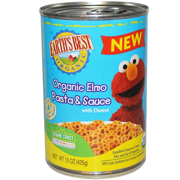 Earth's Best, Organic Elmo Pasta & Sauce with Cheese, 15 oz (425 g) (Discontinued Item)