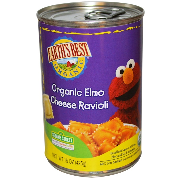 Earth's Best, Organic Elmo Cheese Ravioli, 15 oz (425 g) (Discontinued Item)