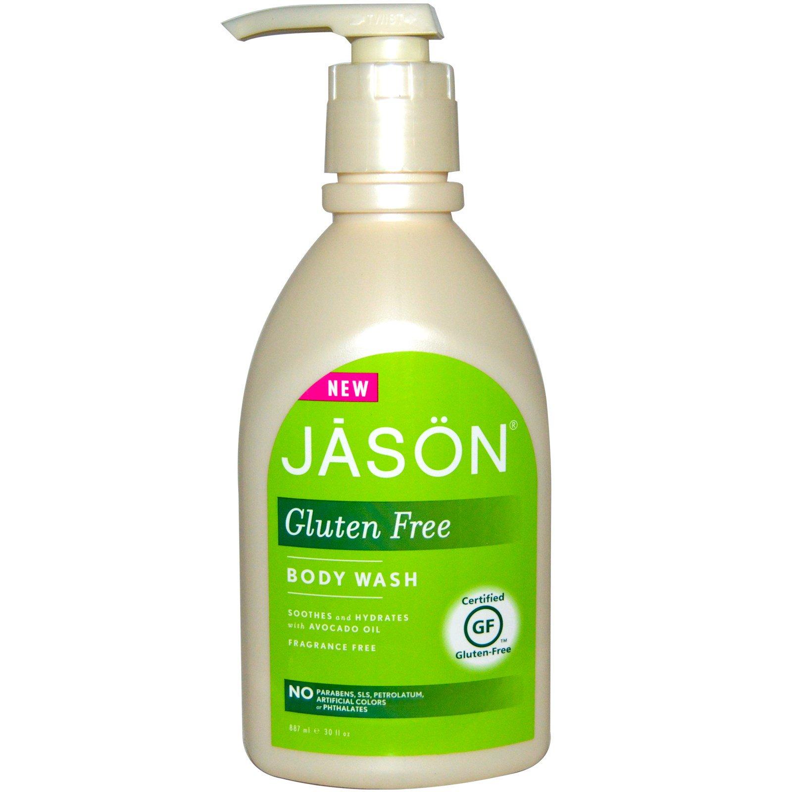 Jason Natural, Гель для душа без глютена, без запаха, 30 ж. унций (887 мл)