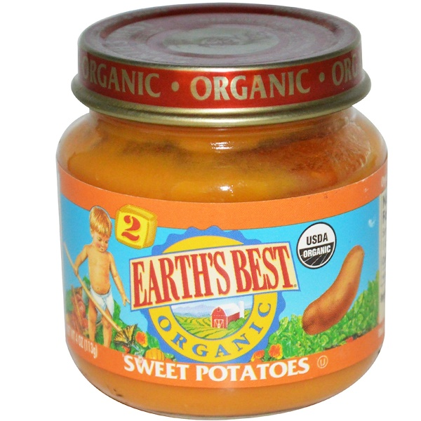 Earth's Best, Organic Baby Food, Sweet Potatoes, 4 oz (113 g) (Discontinued Item)